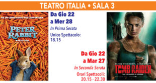 Cinema Teatro Italia Sala 3 – Peter Rabbit/Tomb Raider